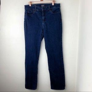 NYDJ Marilyn Straight Hi Rise Jeans sz 12 SHORT
